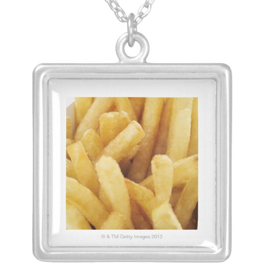 Close-up of French fries Silver Plated Necklace