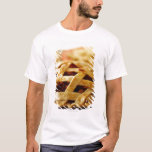 Close-up of fresh pie with lattice pattern crust T-Shirt
