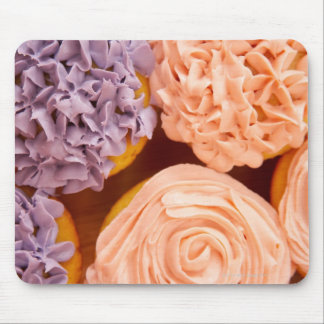 Close-up of frosted cupcakes mouse pad