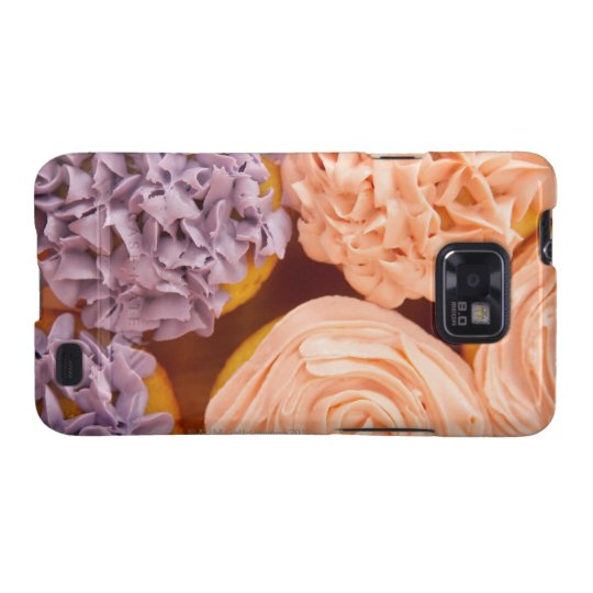 Close-up of frosted cupcakes samsung galaxy s2 cover