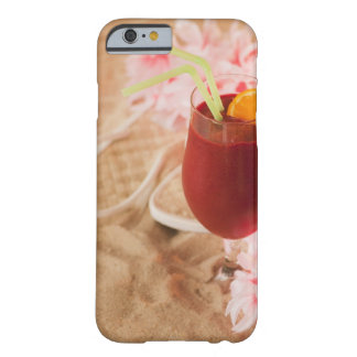Close up of frozen drink and lei on sand barely there iPhone 6 case