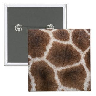 Close up of Giraffes Skin 2 Inch Square Button
