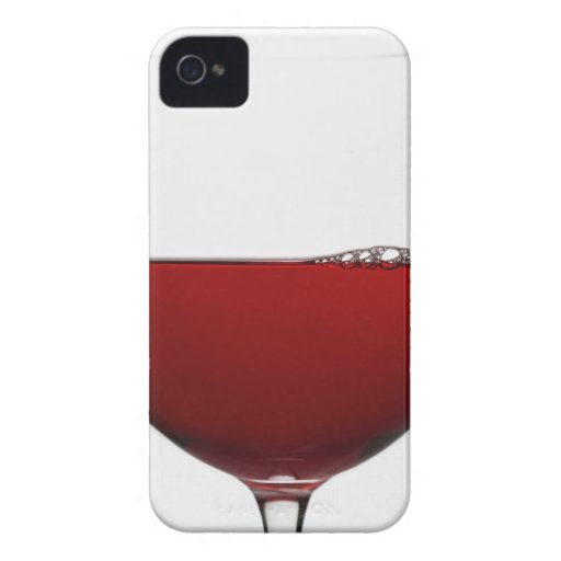 Close up of glass of red wine on white iPhone 4 Case-Mate cases