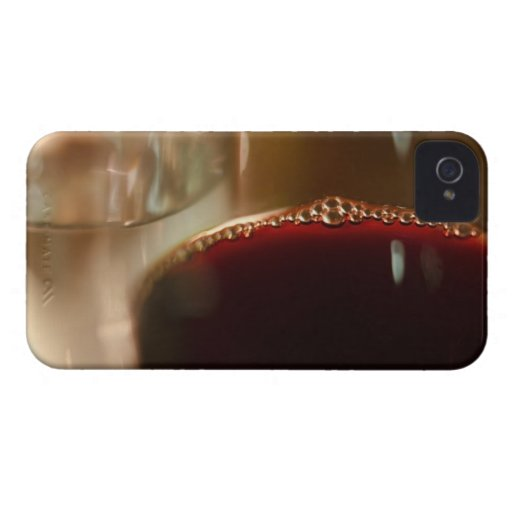 Close-up of glass with red wine iPhone 4 Case-Mate case