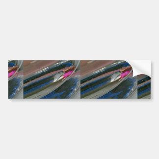 Close-up of glassware car bumper sticker