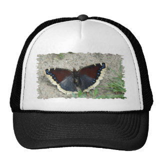 Close up of Gorgeous Mourning Cloak Butterfly Trucker Hat