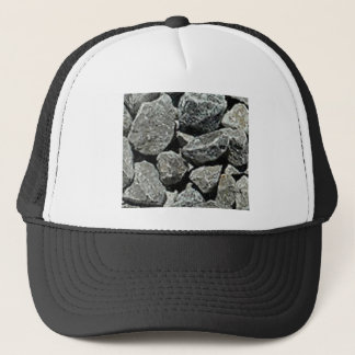 close up of gravel trucker hat