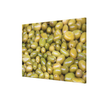 Close Up Of Green Olives Canvas Print