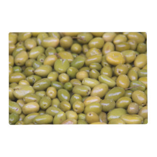 Close Up Of Green Olives Placemat