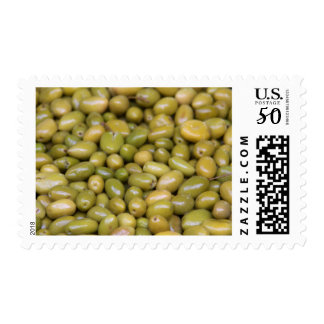 Close Up Of Green Olives Postage