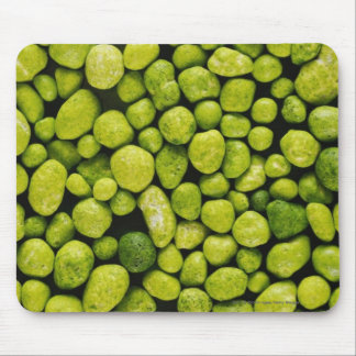 Close-up of green pebbles mouse pad