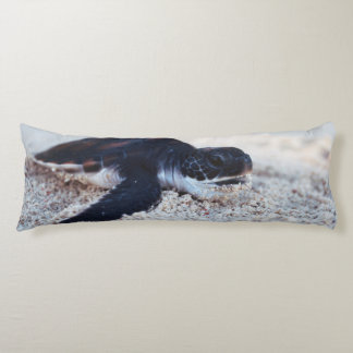 Close-Up of green sea turtle hatchings 1 Body Pillow