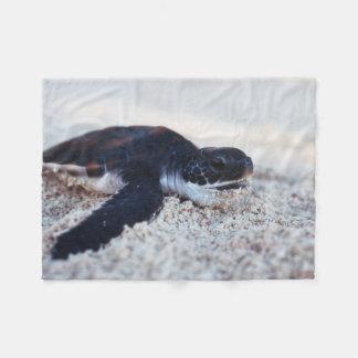 Close-Up of green sea turtle hatchings 1 Fleece Blanket