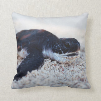 Close-Up of green sea turtle hatchings 1 Throw Pillow