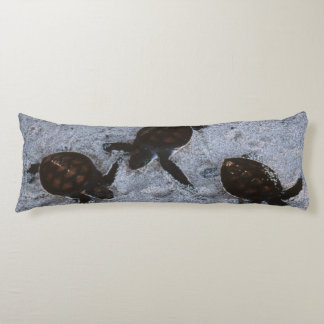 Close-Up of green sea turtle hatchings 2 Body Pillow
