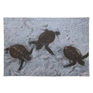 Close-Up of green sea turtle hatchings 2 Cloth Placemat