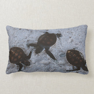 Close-Up of green sea turtle hatchings 2 Pillow