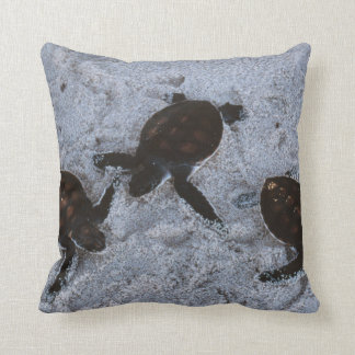 Close-Up of green sea turtle hatchings 2 Throw Pillow