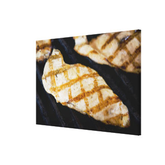 Close-up of grilled chicken breasts canvas print