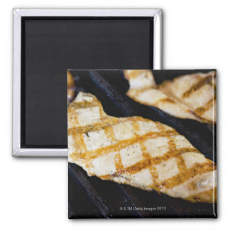 Close-up of grilled chicken breasts 2 inch square magnet