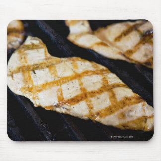 Close-up of grilled chicken breasts mouse pad
