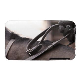 close-up of hand holding reins of horse iPhone 3 Case-Mate case