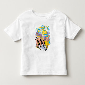 Close-up of hand on computer mouse toddler t-shirt