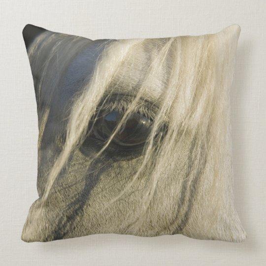 Close-up of Horse eye Throw Pillow