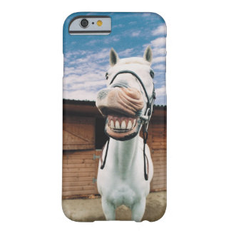 Close-up of Horse with Mouth Open Barely There iPhone 6 Case