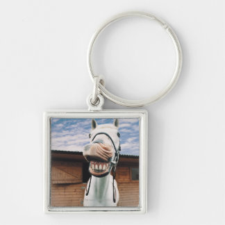Close-up of Horse with Mouth Open Keychain