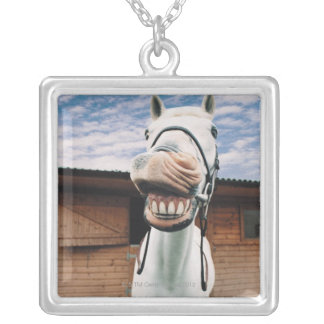 Close-up of Horse with Mouth Open Necklaces