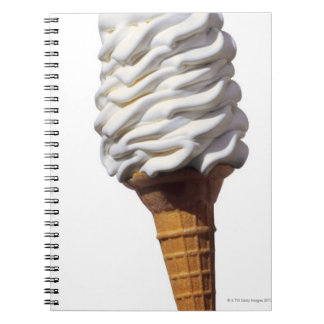 Close-up of ice cream notebook