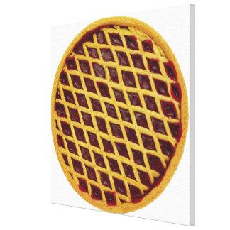 Close-up of jam tart canvas print