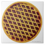 Close-up of jam tart large square tile