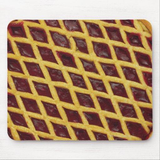 Close-up of jam tart mouse pad