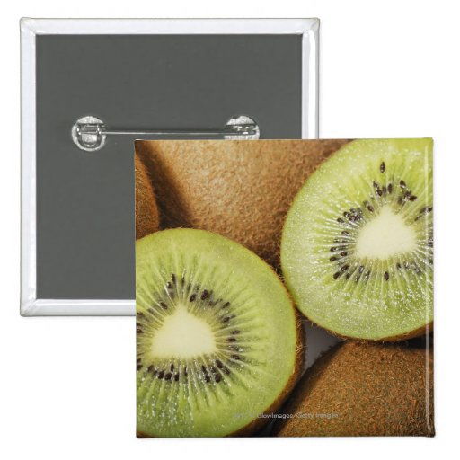 Close-up of kiwi fruits 2 2 inch square button