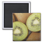 Close-up of kiwi fruits 2 2 inch square magnet