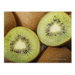 Close-up of kiwi fruits 2 postcard