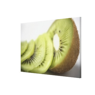 Close-up of kiwi slices gallery wrap canvas