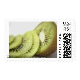 Close-up of kiwi slices postage stamp