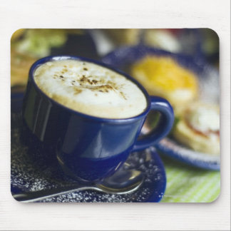 Close-up of latte on table mouse pad