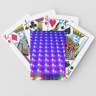 Close Up of LED Lights Bicycle Playing Cards