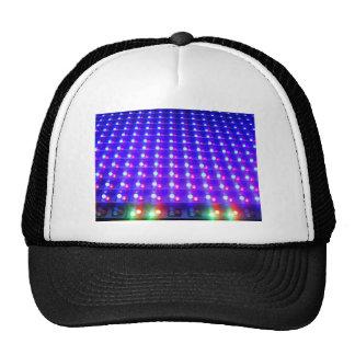 Close Up of LED Lights Mesh Hat