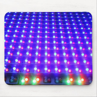 Close Up of LED Lights Mouse Pad