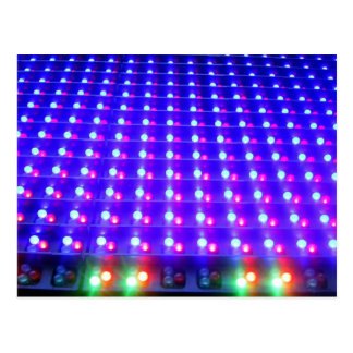 Close Up of LED Lights Postcard