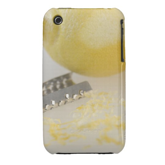 Close-up of lemon and grater iPhone 3 case