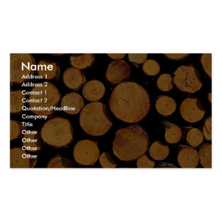 Close-up of logs Double-Sided standard business cards (Pack of 100)