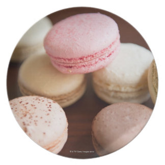 Close up of Macaroons Dinner Plates