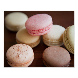 Close up of Macaroons Poster