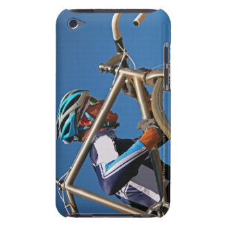 Close up of man cyclocross racing iPod touch cover